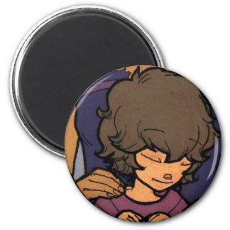 El pequeño soñador - frente del medallón de Zayoni Imán Redondo 5 Cm