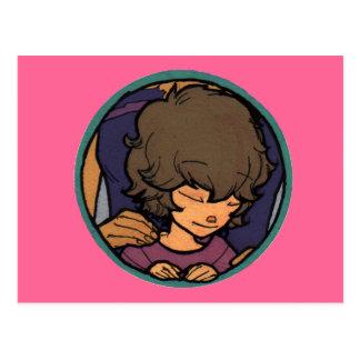El pequeño soñador - frente del medallón de Zayoni Tarjetas Postales
