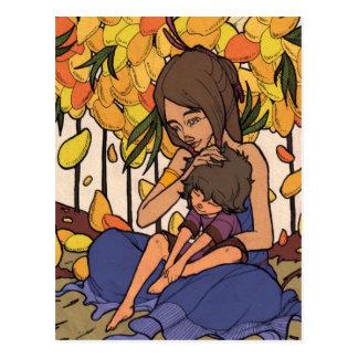 El pequeño soñador - madre y niño postal