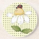 El pequeño sorprender dulce de la mariquita sedien posavasos diseño