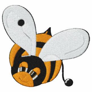 El pequeño vuelo lindo manosea la abeja bordada