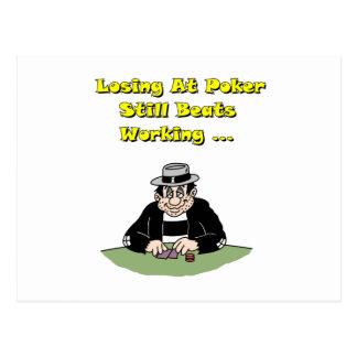 El perder en el póker postal