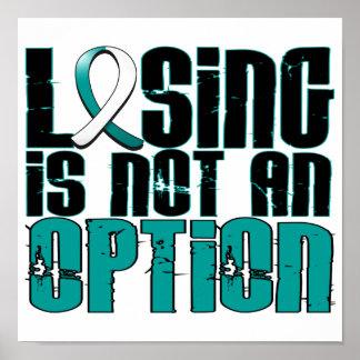 El perder no es un cáncer de cuello del útero de l póster