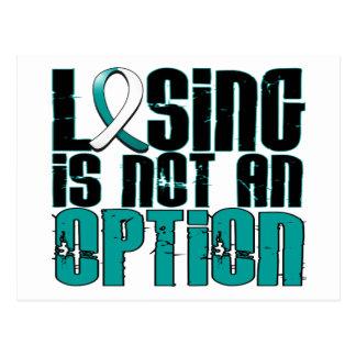 El perder no es un cáncer de cuello del útero de tarjeta postal