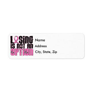 El perder no es un cáncer de pecho de la opción etiquetas de remite