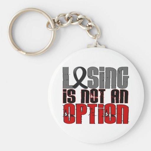 El perder no es un cáncer de piel de la opción llavero personalizado