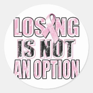 El perder no es un Option.png Pegatina Redonda