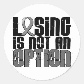 El perder no es un tumor cerebral de la opción pegatina redonda