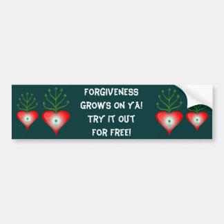 El perdón crece en la pegatina para el parachoques pegatina para auto