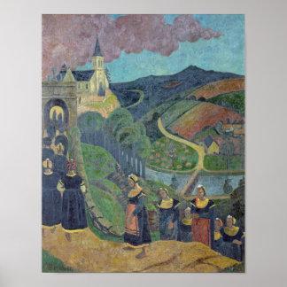 El perdón de Notre-Dama-DES-Portes en Póster