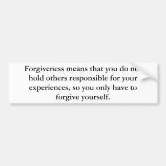 El perdón significa pegatina para auto