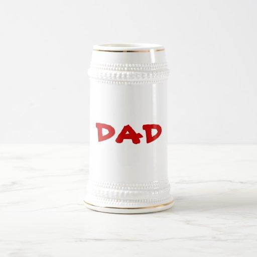 El père U del PAPÁ de la PLANTILLA puede cambiar Jarra De Cerveza