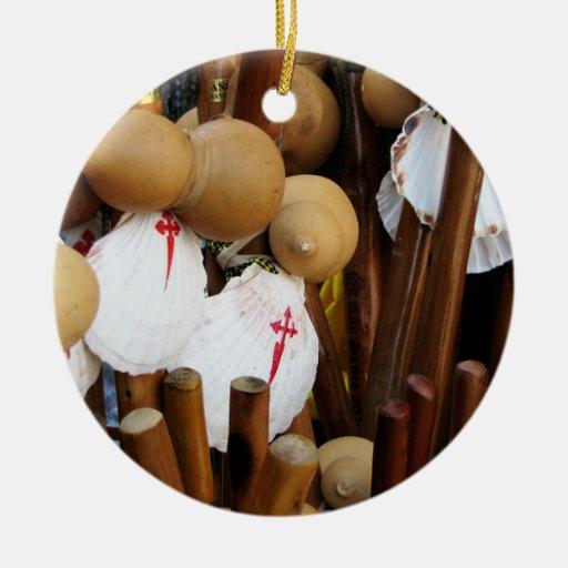 El peregrino descasca el ornamento adornos de navidad
