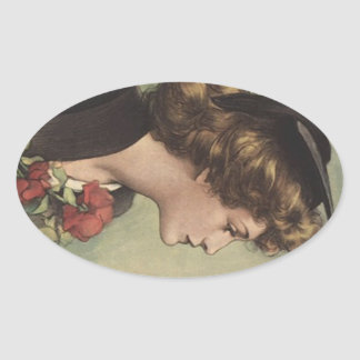El perfil de la mujer del vestido del casquillo de