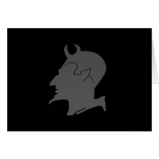 El perfil del diablo - tarjeta del saludo y de
