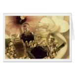 El perfume natural engrasa la foto Notecard Tarjeta