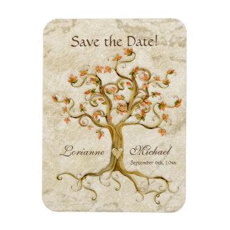 El pergamino Antiqued las raíces del árbol del rem Imanes De Vinilo