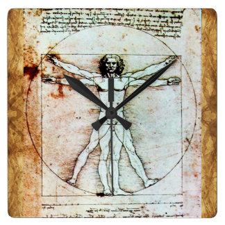El pergamino de la antigüedad del HOMBRE de Reloj Cuadrado