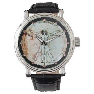 El pergamino de la antigüedad del HOMBRE de Reloj De Mano