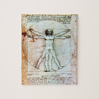 El pergamino de la antigüedad del HOMBRE de VITRUV Rompecabezas Con Fotos
