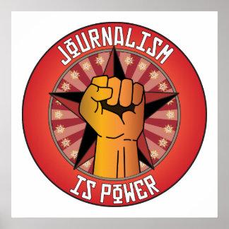 El periodismo es poder póster