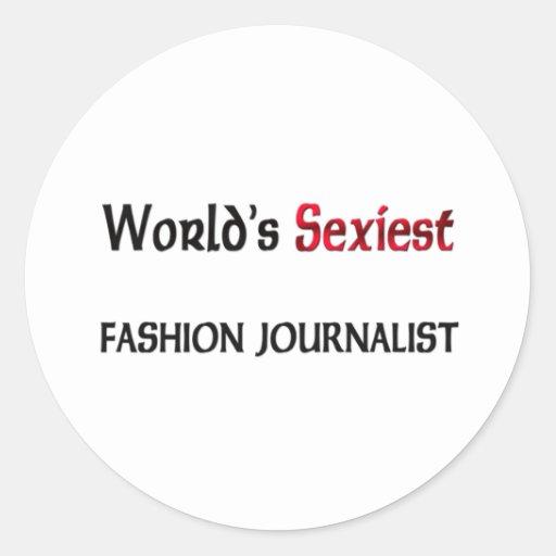El periodista más atractivo de la moda del mundo etiqueta redonda