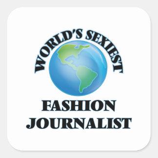 El periodista más atractivo de la moda del mundo pegatina cuadrada