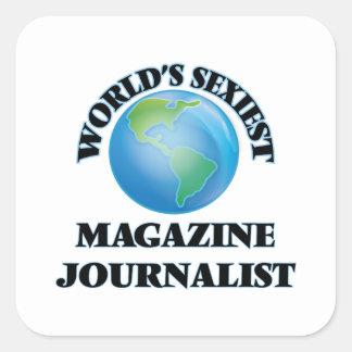 El periodista más atractivo de la revista del calcomanias cuadradas