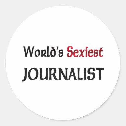 El periodista más atractivo del mundo etiqueta
