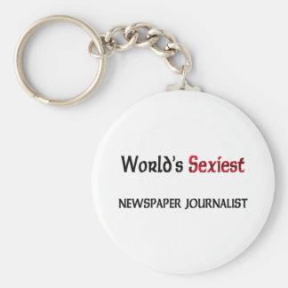 El periodista más atractivo del periódico del llavero redondo tipo pin