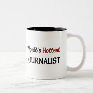 El periodista más caliente de los mundos taza dos tonos