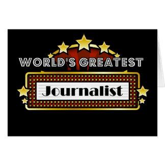El periodista más grande del mundo tarjeta de felicitación