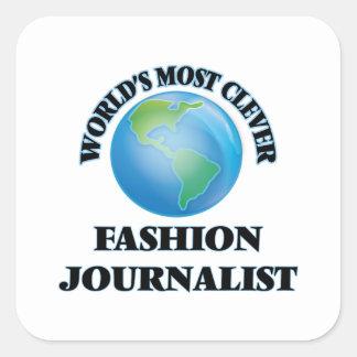 El periodista más listo de la moda del mundo pegatina cuadrada