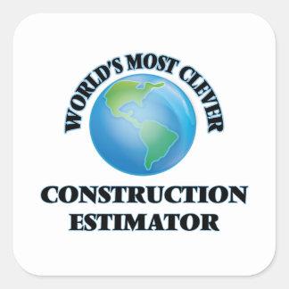 El perito más listo de la construcción del mundo pegatina cuadrada