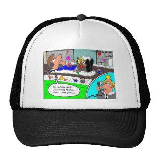 El permanecer a flote en regalos divertidos y gorras de camionero