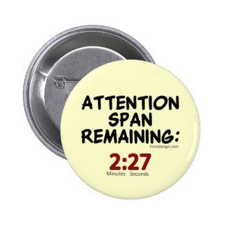 El permanecer de la capacidad de concentración: Mi Pin Redondo 5 Cm