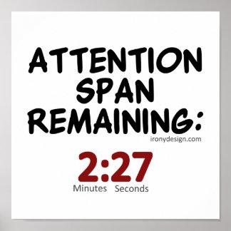 El permanecer de la capacidad de concentración: póster