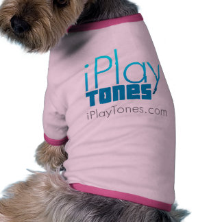 El perrito ama iPlayTones.com Camiseta Con Mangas Para Perro