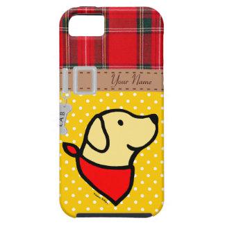 El perrito amarillo personalizado del laboratorio iPhone 5 Case-Mate funda