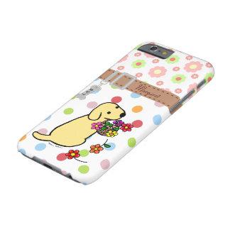 El perrito amarillo personalizado del laboratorio funda de iPhone 6 barely there