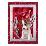 El perrito de Jack Russell sea mi tarjeta de felic