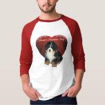 El perrito de MadDog en una camiseta del corazón Playeras