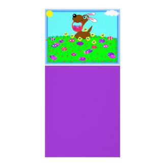 El perrito de Pascua diseñó la marca de libro Tarjetas Personales