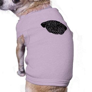 El perrito del barro amasado guiña el mensaje secr camisetas de perrito
