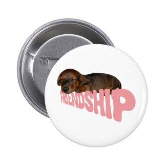 El perrito/el perro de la amistad es el mejor pin redondo de 2 pulgadas