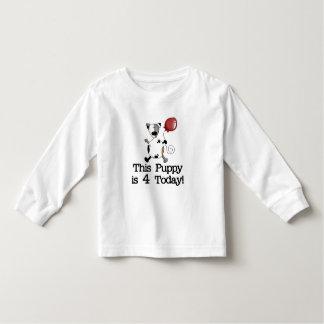 El perrito es 4 camisetas y regalos del cumpleaños remeras