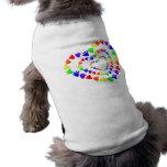 El perrito imprime corazones ropa de perros