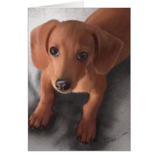 El perrito más lindo nunca tarjeta de felicitación