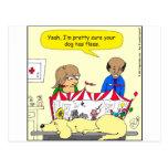 el perro 626 tiene dibujo animado de las pulgas postal