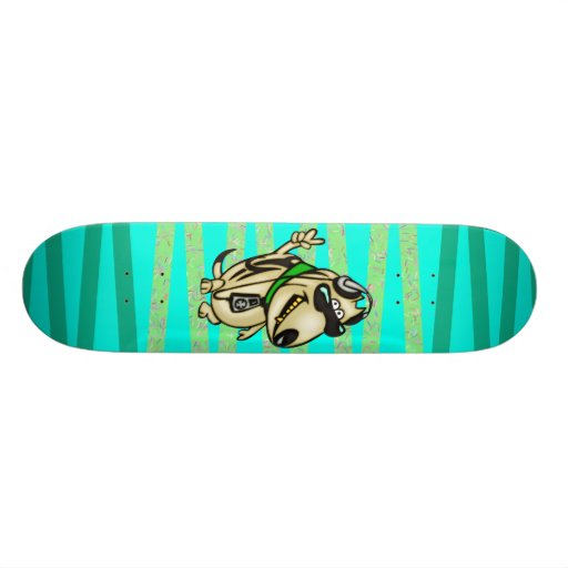 El perro ama música skateboards